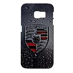Samsung Galaxy S6 Edge Durable 3d Cover Shell,Stylish Prevdent Porsche Logo Phone Case for Samsung Galaxy S6 Edge Luxury Logo Porsche Shell
