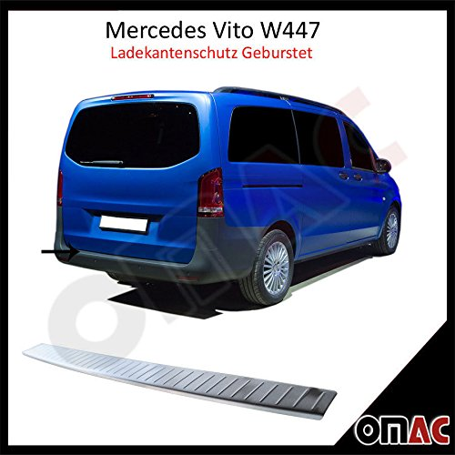 MERCEDES METRIS CHROME REAR BUMPER SILL COVER GUARD PROTECTOR TRIM BRUSHED STAINLESS STEEL
