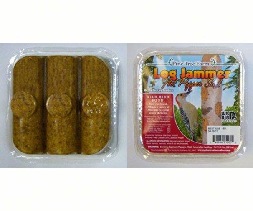 (12 Packs of Pine Tree Farms Log Jammer Hot Pepper Suet- 3 Plugs Per Pack)