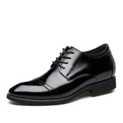 ccd0b6f268be33 Amazon | [Aisxle] ビジネスシューズ 革靴 メンズ 靴 レースアップ 6cm UP シークレットブーツ 通気性 柔らかい | レース アップシューズ