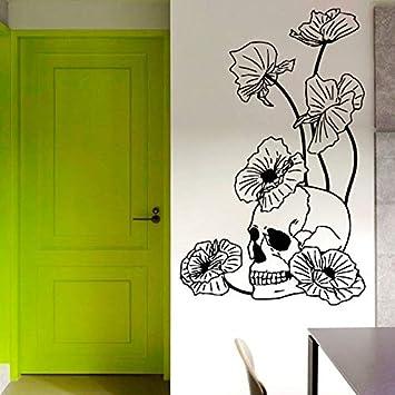 68 cm x 43 cm Amapolas Flores Tatuajes de pared Decoración del ...