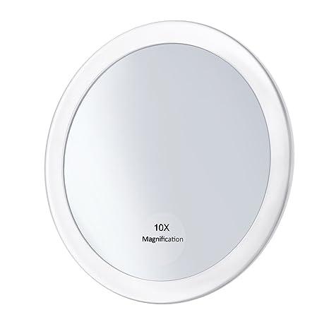 Frcolor Miroir Grossissant 10x Avec 3 Ventouses Miroir Cosmétique