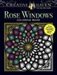 Creative Haven Rose Windows Coloring...