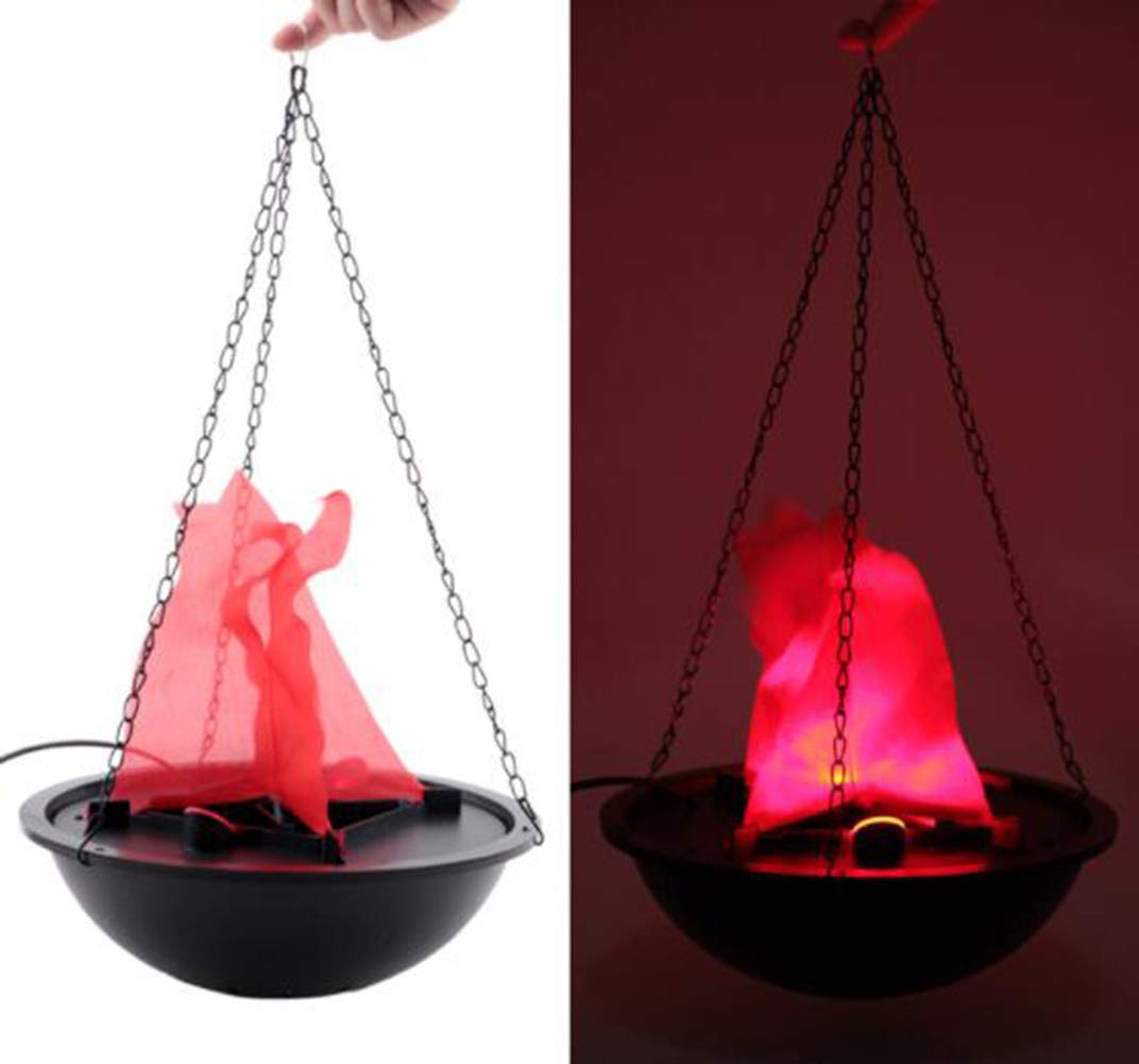 TOPCHANCES Electric LED Flamsee 3D Fake Fire Lamp Eeffect Torch Light for Halloween Xmas Party Decor Holiday Supplies (30cm Hanging Lamp)