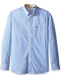 Men's Club Fit Striped Elbow Patch Special Shirt