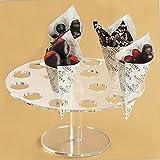 Kangkang@ 16-Hole Acrylic Clear Circle Cupcake Ice Cream Cone Display Holder Stand