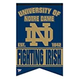 WinCraft NCAA Notre Dame WCR91961010 Premium Felt Banner, 17'' x 26''