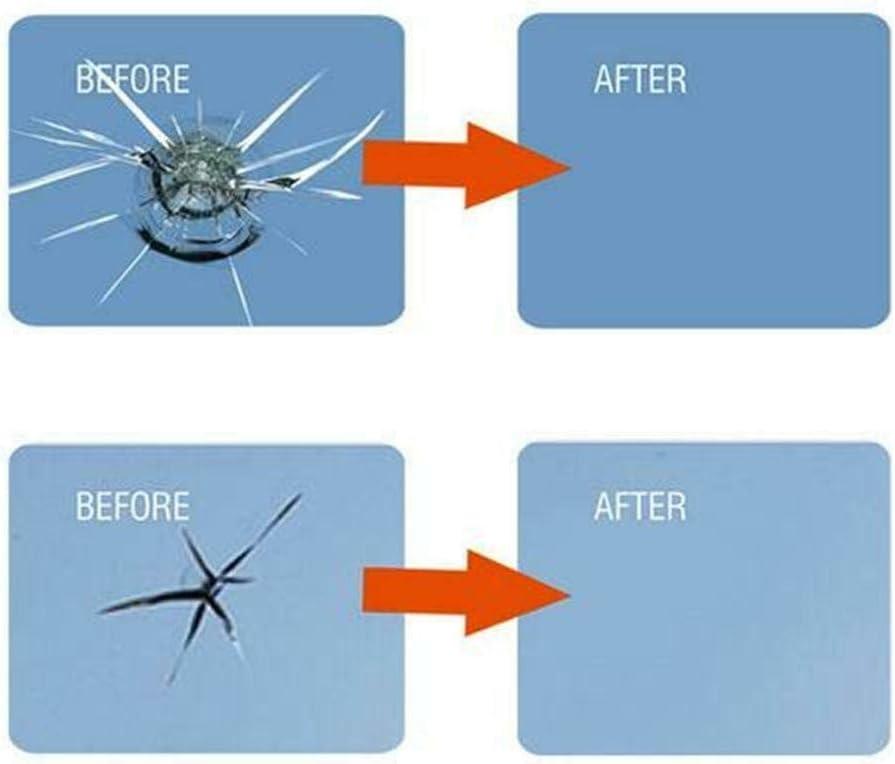 Gaddrt Autoglas Nano Repair Fluid Fr/üher Reparatursatz f/ür Windschutzscheibe Autofensterglas Riss Chip Reparaturharz Dauerhafte Autoreparatur Autokratzer entfernen A