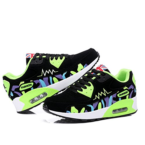 Sneaker Absorbant Jogging Gomnear Trainers Dames Sport Choc Femmes Air Gym Fitness Léger Running Vert Chaussures qwCSOq