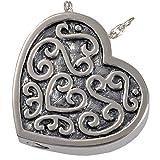 Memorial Gallery 3112a filigree slide heartSS Filigree Slide Heart Sterling Silver Cremation Pet Jewelry