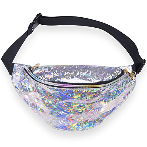 Miracu Neon Holographic Fanny Pack, 80s Cute Fashion