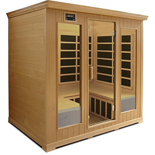 Crystal Sauna LH400 4-5 Person Luxury Infrared Sauna