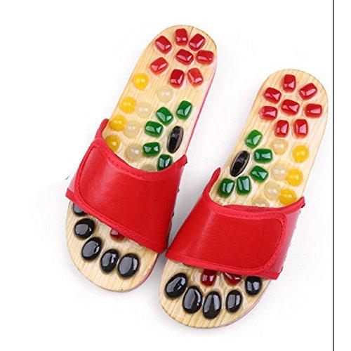 Haus Fuß Farben ZZHF Hausschuhe größe Schuhe 43 Schuhe Hausschuhe Sandalen B 42 und Jade optional optional Größe Männer acupoints Fußmassage Paare A Frauen Farbe Gesundheit Massage 43 2 taq7rga