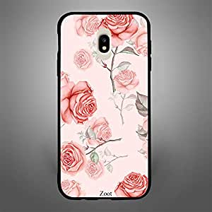 Samsung Galaxy J7 Pro Peach Roses Thorns
