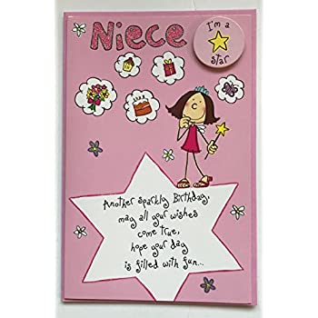 Happy Birthday Niece Greetings Card