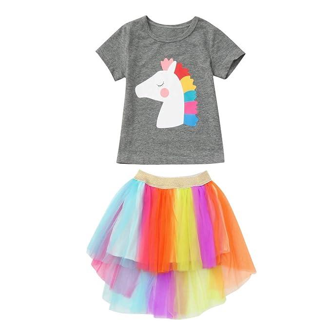 Summer Newborn Baby Girl  Fly Sleeve Chiffon Top T-Shirt Shorts Pants Outfit Set