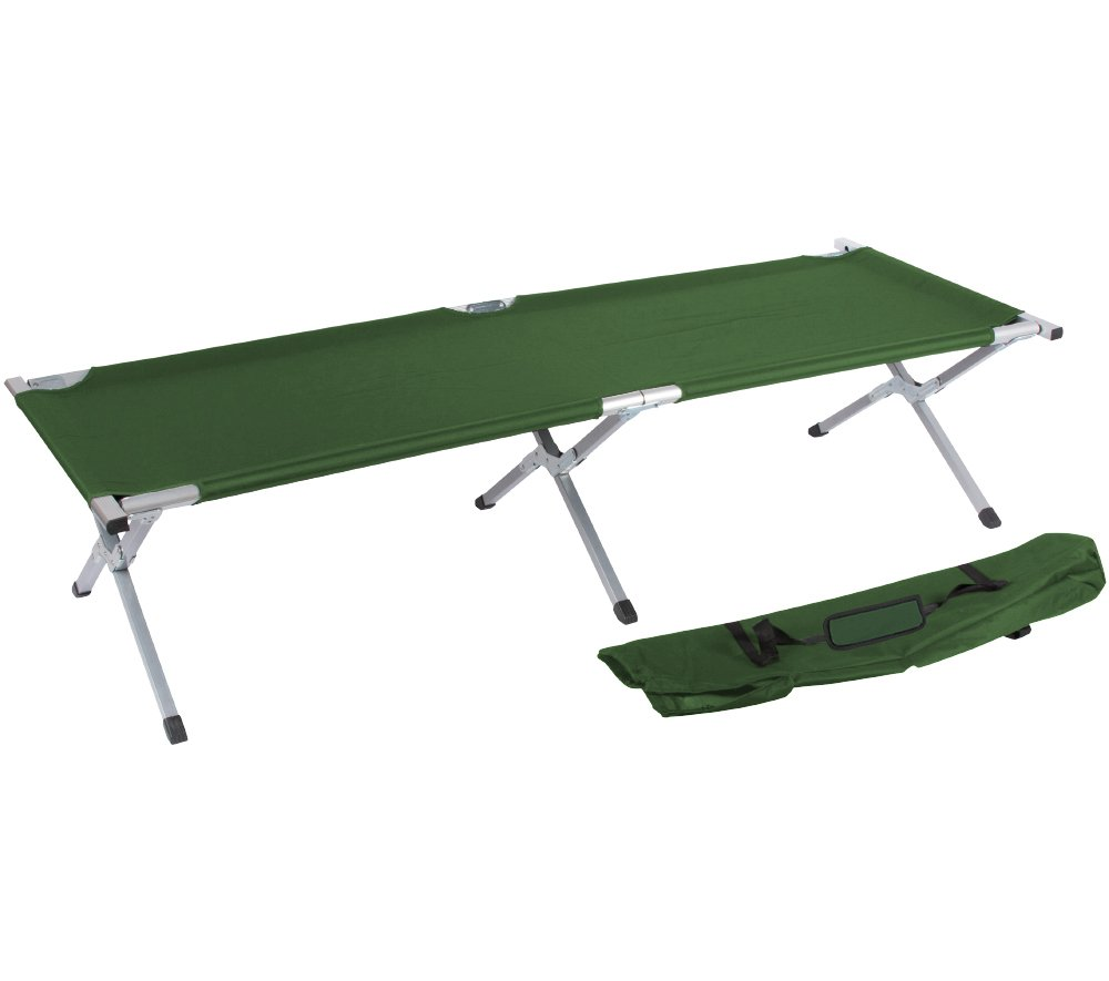 75'' Portable Folding Camping Bed and Cot By Trademark Innovations (Army Green)