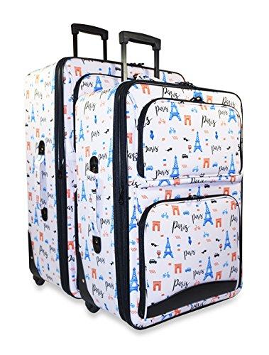 Ever Moda Paris 2-Piece Luggage Set by Ever Moda