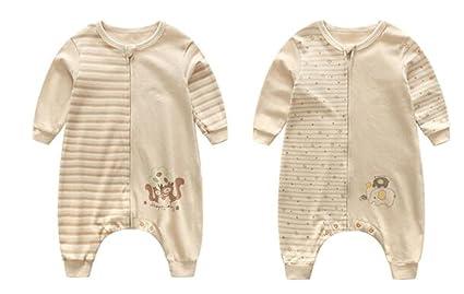 fzw Bebé saco de dormir primavera y el otoño de color algodón bebé piernas separadas saco