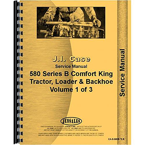 - New Case 580B Tractor Loader Backhoe Service Manual