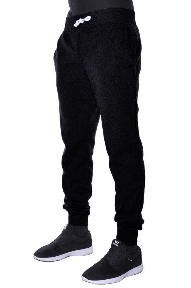 Mens Basic Fleece Jogger Pants S BLK
