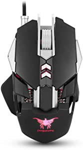 Gaming Mouse, Wired Programmable Led Backlit Mouse, Ergonomic Design, DPI Mode, USB PC Gaming Mice,Laptop Computer 2.4G,C