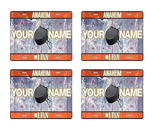 Glass Set Anaheim Ducks - BRGiftShop Customize Your Own Hockey Team Anaheim Set of 4 Square Beverage Coasters