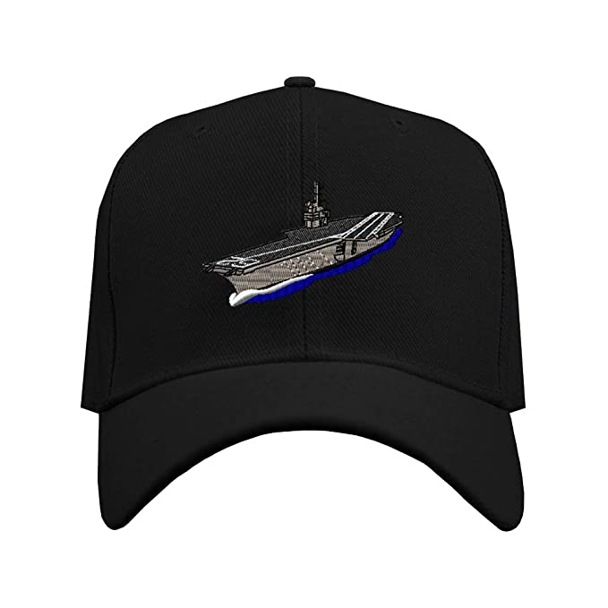 Custom Baseball Hat Aircraft Carrier A Embroidery Military