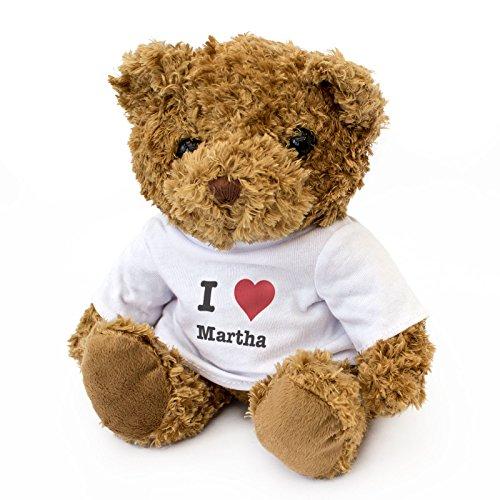 NEW - I LOVE MARTHA - Teddy Bear - Cute Soft Cuddly - Gift Present Birthday Xmas Valentine