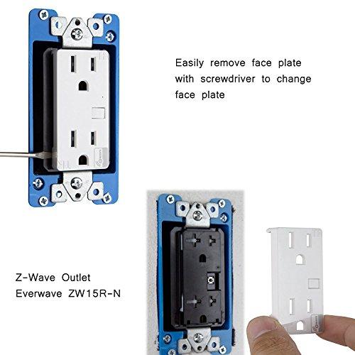 Enerwave In Wall Smart Meter Tr Duplex Receptacle