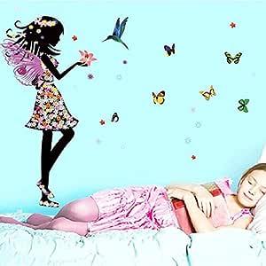 Children Room Princess Little Girl Bedroom Bedside Background Decoration Cartoon Wall Sticker