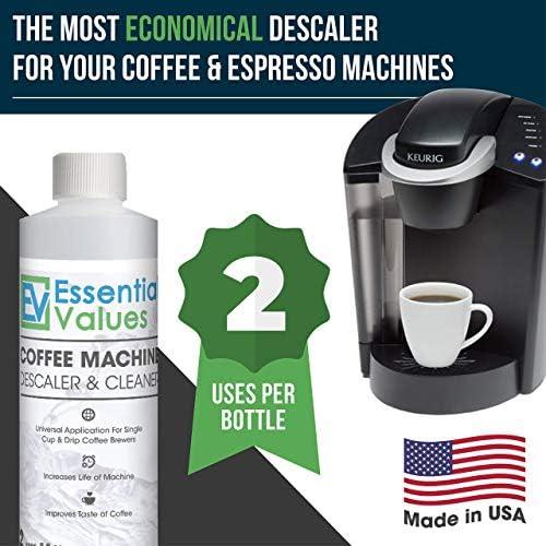 Essential Values Descalcificador de Café para Delonghi, Keurig ...