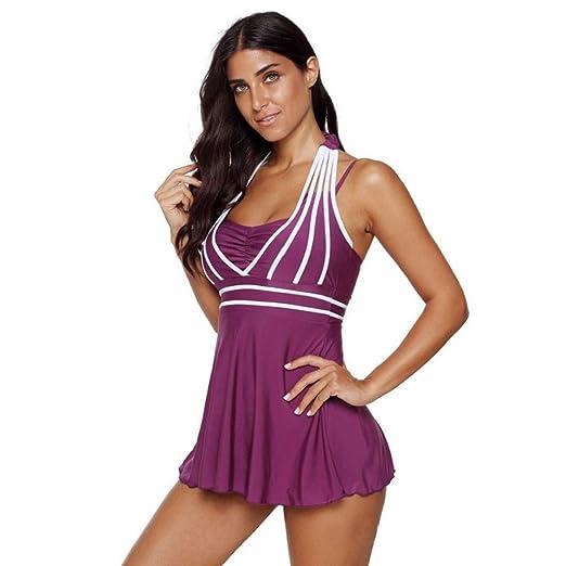Go First Mujer Color Block Tankini Trajes de baño Traje de ...
