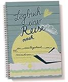 """Reisetagebuch, """"Logbuch einer Reise"""" Tagebuch zum Schreiben mit Wetter-,Stimmungs-und Zitatfeldern, blau, A5"""