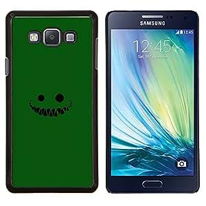Cara verde- Metal de aluminio y de plástico duro Caja del teléfono - Negro - Samsung Galaxy A7 / SM-A700