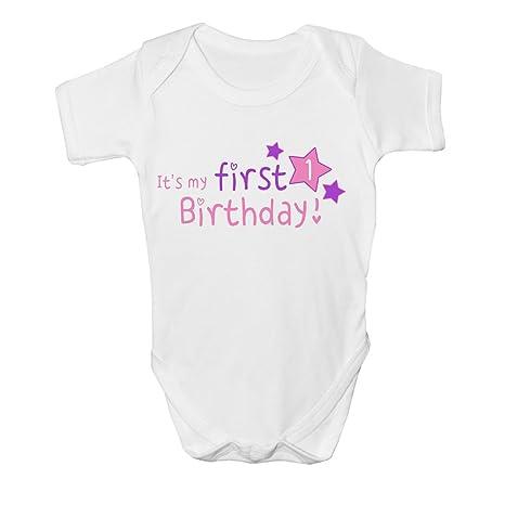 Su mi primer 1st cumpleaños bebé chaleco Grow ropa Body Top ...
