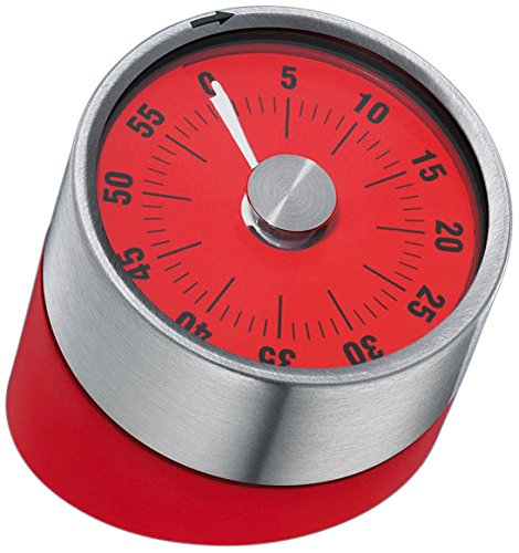 Cilio Tower of Pisa Manual Kitchen Timer, Red