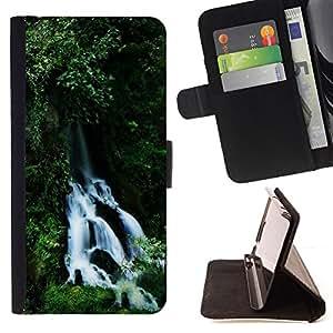 For Samsung Galaxy S5 V SM-G900 - Waterfall /Funda de piel cubierta de la carpeta Foilo con cierre magn???¡¯????tico/ - Super Marley Shop -