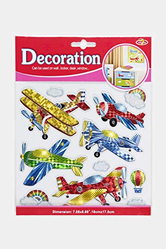 High Quality Classic Old Airplane stickers Colorful Wall Decals For Kids Lively Locker Decorations Removable Wall Stickers Excellent For DIY Children's Furniture Design Boys Wall -