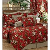Red Bamboo Comforter Set - Queen