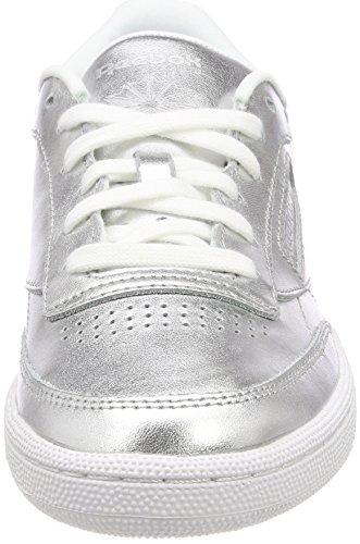 Argent Femme S De silverwhite Tennis C Shine Chaussures Club Reebok 85 8Rt4qzO