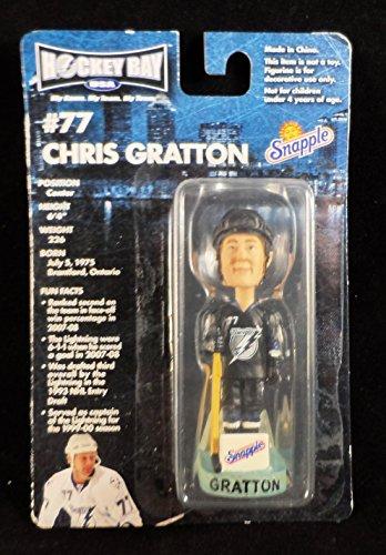 (Hockey Bay Snapple Chris Gratton Tampa Bay Lightning Mini Bobblehead)