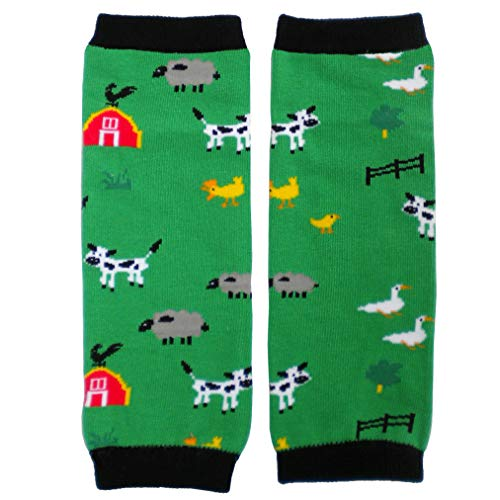 Huggalugs Sale Baby and Toddler Boys and Girls Animal Leg Warmers in Various Designs (Baby -fits newborn to 6 months, E-I-E-I-O)