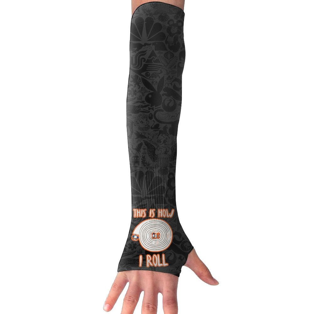 This Is How I Roll Firefighter Unisex Protection Hand Cover Arm Sleeves Cool Cover Sun For Outdoor Activities 1 Pair