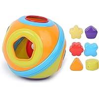 Glad oppervlak Babybouwstenen, bouwstenen speelgoed, voor baby 6 maanden oud+ Thuis spelen Baby 6 maanden oud+(313…