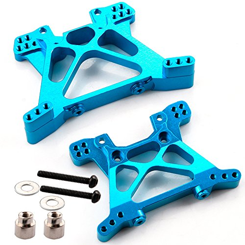 Yiguo Alloy Front Rear Shock Towers for 1 10 Traxxas Slash 4x4 RC Car Upgrade Blue Set of 2 Blue Front Shock Tower