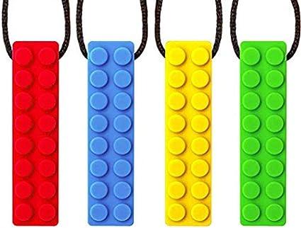 Anxi/ét/é Yuccer Silicone Dentition Jouet Sensoriel Pendentif Moteur Oral pour Autistiques Collier /à M/âcher Bleu Besoins Sp/éciaux Enfants ADHD Adultes