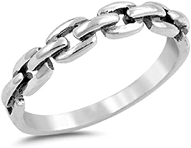 Princess Kylie Clear Cubic Zirconia Double Linked Infinity Ring Sterling Silver Size 6