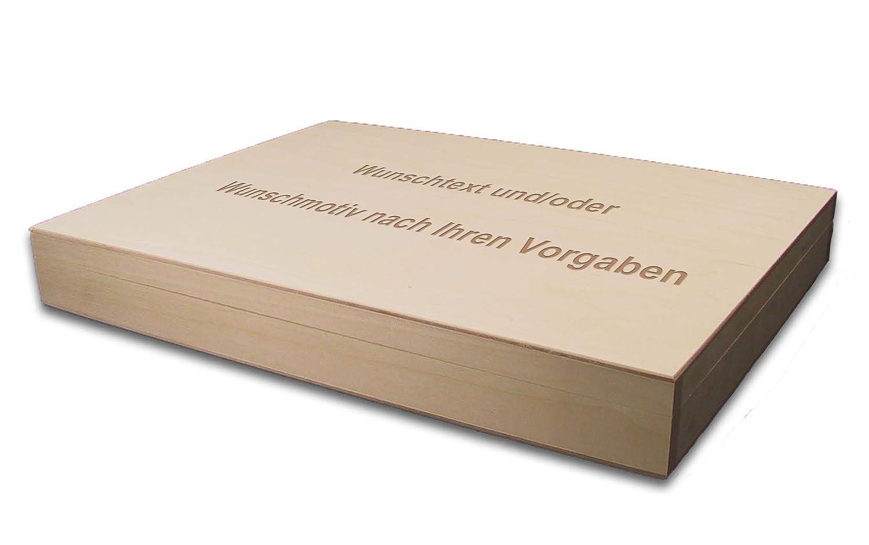 Linde incl innen größer A4 Holzbox Aufbewahrungsbox Holz-Kassette Lasergravur