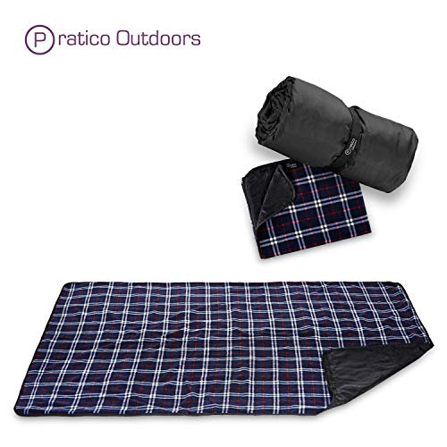 Premium Extra Large Picnic & Outdoor Blanket with Improved Backing, Carrying Buckle, Machine Washable (Navy Blue)